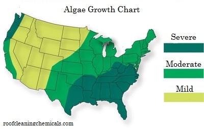 Algae Growth Chart Usa
